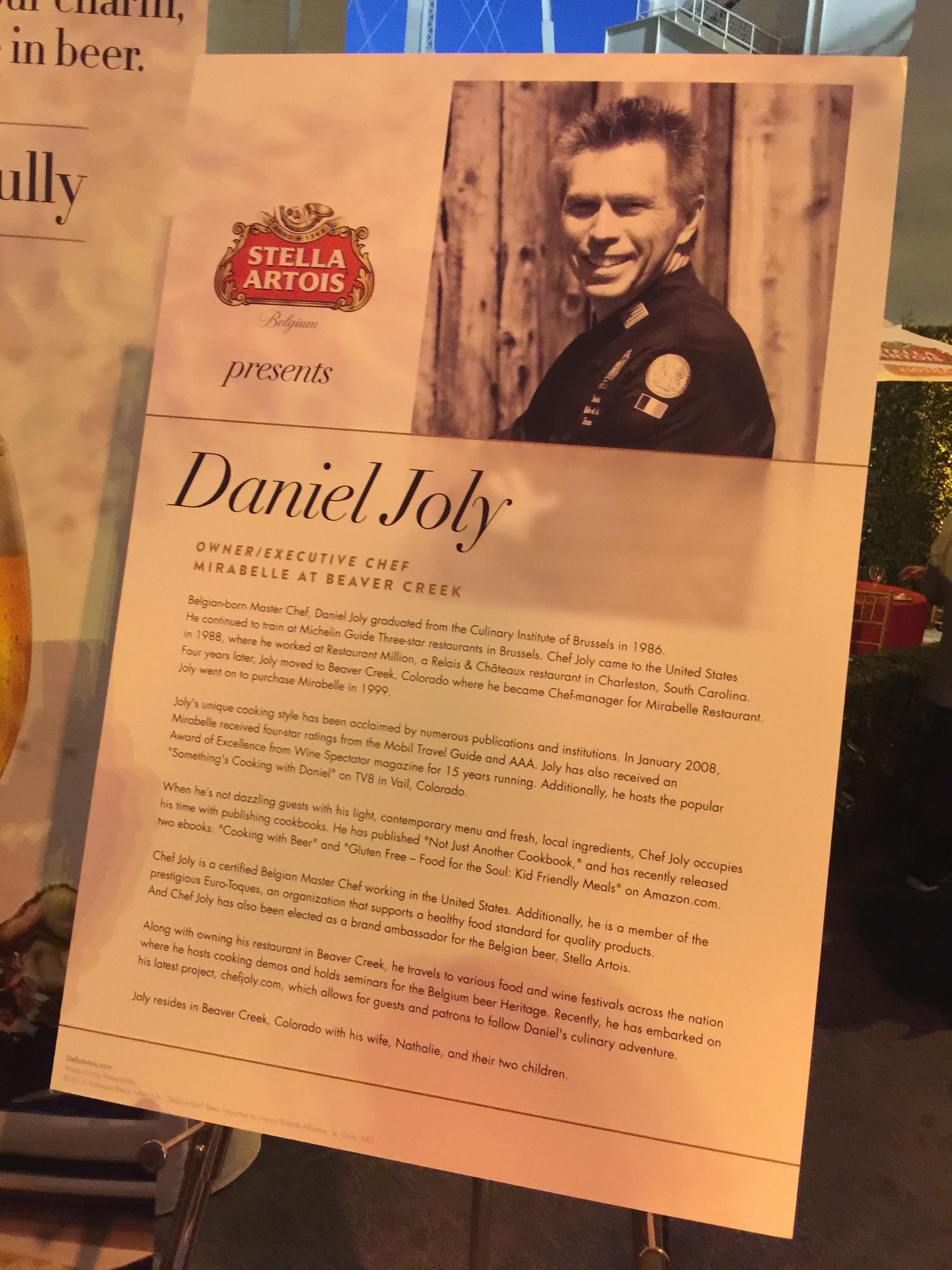 Chef Daniel Joly Bio