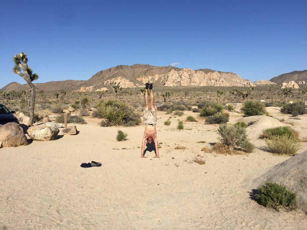 Brad Handstand Joshua Tree